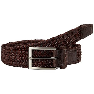35 mm Italian Twist Woven Leather & Cotton Elastic