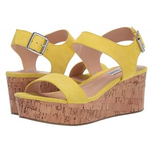 Breathe Wedge Sandal Yellow Suede