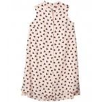 Mao Collar Dress Cherry Blossom/Anne Black