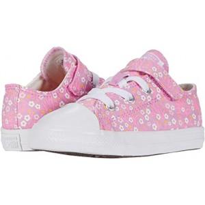 Converse Kids Chuck Taylor All Star 1V Floral (Infantu002FToddler) Peony Pink/Topaz Gold/White