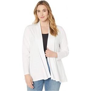 Plus Size Cleo Cardigan with Pockets White