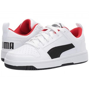 Rebound Layup Lo Sl (Big Kid) Puma White/Puma Black/High Risk Red