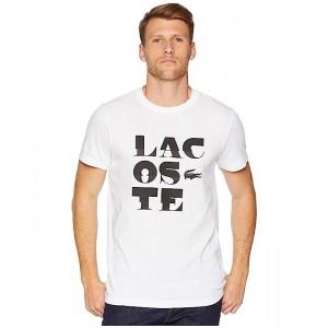 Sport Short Sleeve Tech Jersey T-Shirt w/ Lacoste Word Play