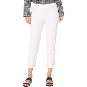Petite Mid-Rise Ankle Pants with Slits White