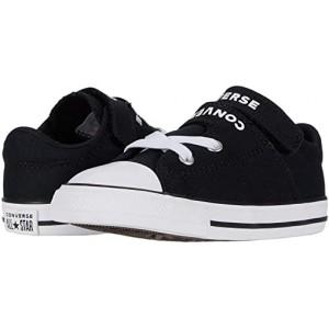 Converse Kids Chuck Taylor All Star Double Strap (Infantu002FToddler) Black/Black/White