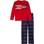 Two-Piece Plaid Plush Pants Sleepwear Set (Big Kids)