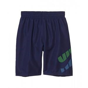 Nike Kids 8 Split Logo Volley Shorts (Little Kidsu002FBig Kids) Midnight Navy