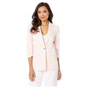 Cotton Scrunch Sleeve Jacket Rose