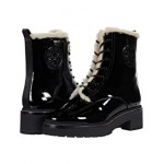 Tory Burch Miller 50 mm Lug Sole Shearling Bootie Perfect Black/Perfect Black