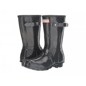 Original Short Gloss Rain Boots Dark Slate