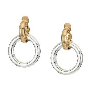 Circle Link Drop Earrings-Clip