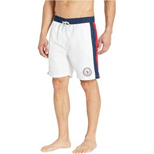 Side Stripe Swim Shorts White