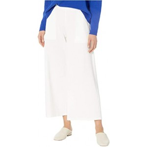 Wide Leg Cropped Pants Ivory