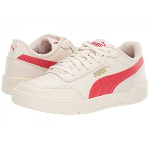 Caracal (Big Kid) Whisper White/High Risk Red/Puma Silver