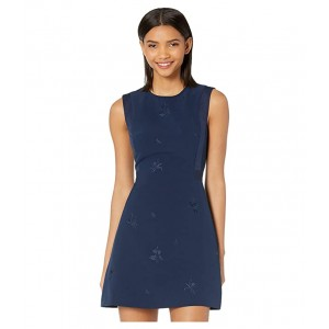 Saahrad Embroidered Shift Dress Navy
