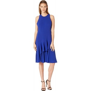 Tiered Ruffle Hem Sleeveless Dress CD8B19XU Ultramarine