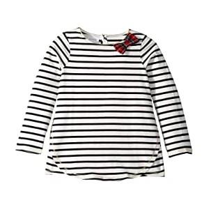 Striped Tartan Bow Tunic (Infant/Toddler)