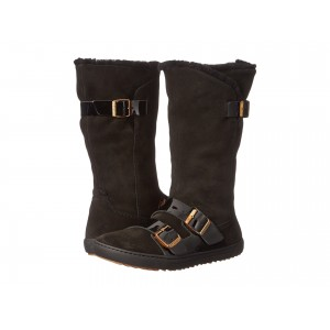 Danbury Shearling Lined Black Suede/Leather