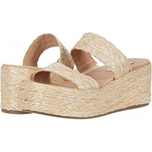 Steve Madden Jolted Wedge Sandal Natural Raffia