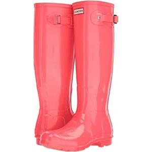 Original Tall Gloss Rain Boots Hyper Pink