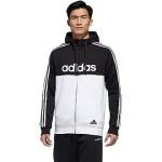 Essentials Color-Block Hooded Full Zip Sweatshirt