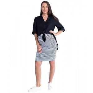 Maternity Linen Shirt and Skirt
