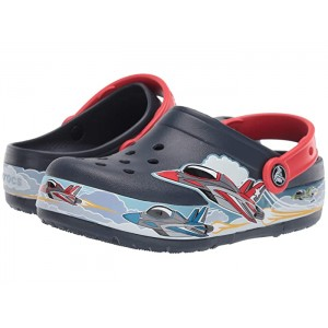 CrocsFunLab Jets Band Lights Clog (Toddler/Little Kid) Navy