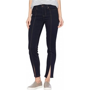 Abby Ankle Front Slit in Super Soft Stretch Denim Jeans in Indigo Rinse Indigo Rinse