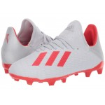 X 19.3 FG Soccer (Little Kid/Big Kid) Silver/Hi-Res Red/White