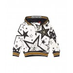 Dolce & Gabbana Kids Cappuccio Con Zip Hooded Cardigan (Toddleru002FLittle Kids) Stelle Fdo Panna