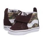 Vans Kids SK8-Hi Crib (Infantu002FToddler) Animal Camo Brown/True White
