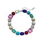 Rainbow Jeweled Statement Necklace