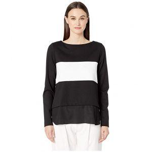Ponte Boat Neck Sweater Black/White