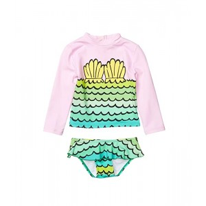 Stella McCartney Kids Mermaid Shells Rashguard Set (Infant) Pink
