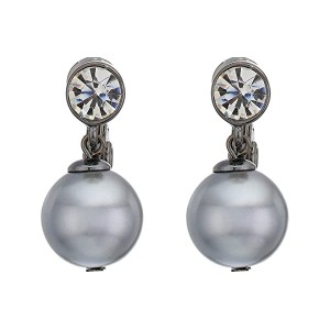 12 mm Glass Pearl Drop Earrings