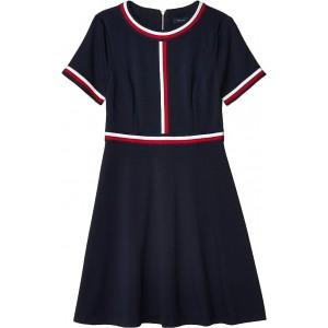 Tommy Hilfiger Short Sleeve Global Flare Dress Sky Captain