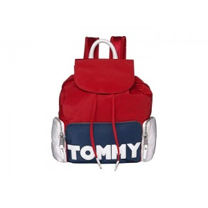Tommy Nylon Backpack Navy/Red/White