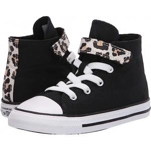 Converse Kids Chuck Taylor All Star 1V Leopard Print (Infantu002FToddler) Black/Driftwood/White