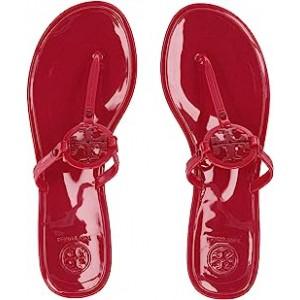 Mini Miller Flat Thong Ruby Red