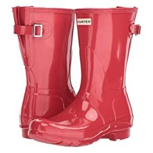 Original Back Adjustable Short Gloss Rain Boots Flare