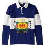 Guccified Vintage Long Sleeve Polo (Little Kids/Big Kids)