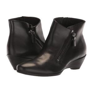 ECCO Sculptured 45 Bootie wu002F Zip Black Cow Leather