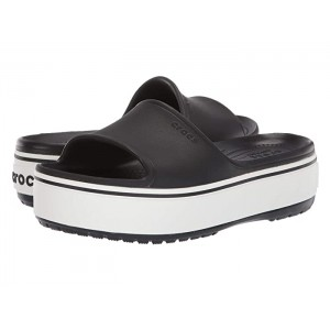 Crocband Platform Slide Black/White