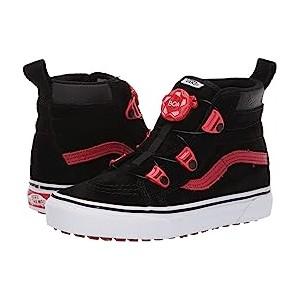 SK8-Hi MTE Boa (Little Kid/Big Kid) (MTE) Black/Racing Red