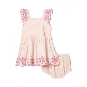 Broderie Anglaise Ruffle Short Sleeve Dress (Infant)