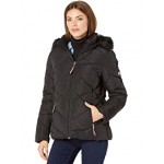 Tommy Hilfiger Hooded Quilted Full Zip Jacket Black