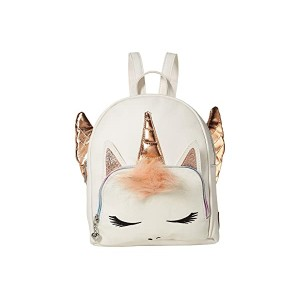 Winged Unicorn Mini Backpack White