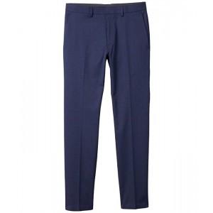 Stretch Glen Windowpane Slim Fit Flat Front Flex Waistband Dress Pants