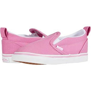 Vans Kids Slip-On V (Infantu002FToddler) Fuchsia Pink/True White