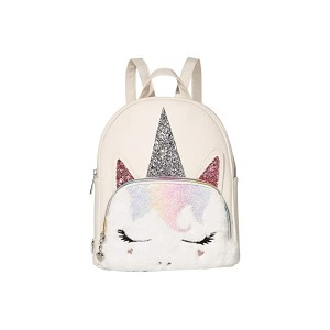 OMG! Accessories Sugar Glitter Unicorn Mini Backpack White